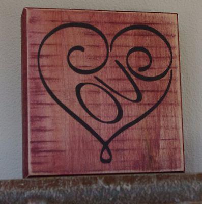 Wedding Decor Sign - Valentine Sign - Rustic Wedding Decor - Wedding Decor