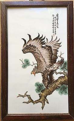 Old Chinese Porcelain Plaque, 1950's