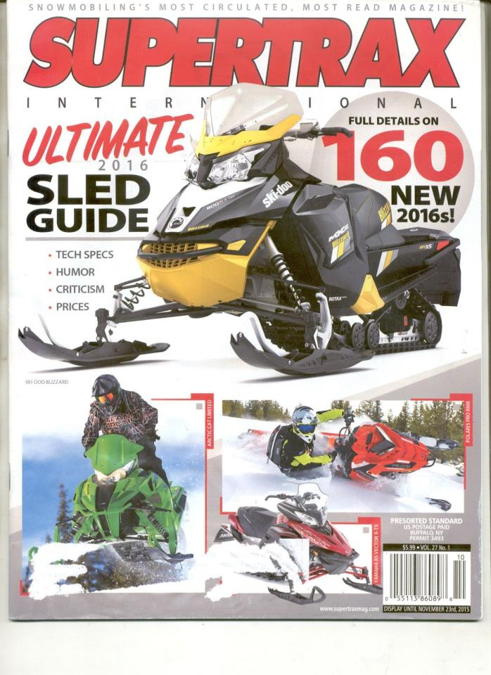 2016 BUYERS GUIDE SNOWMOBILE MAGAZINE Ski-Doo MXZ Blizzard 800 Polaris Pro RMK16