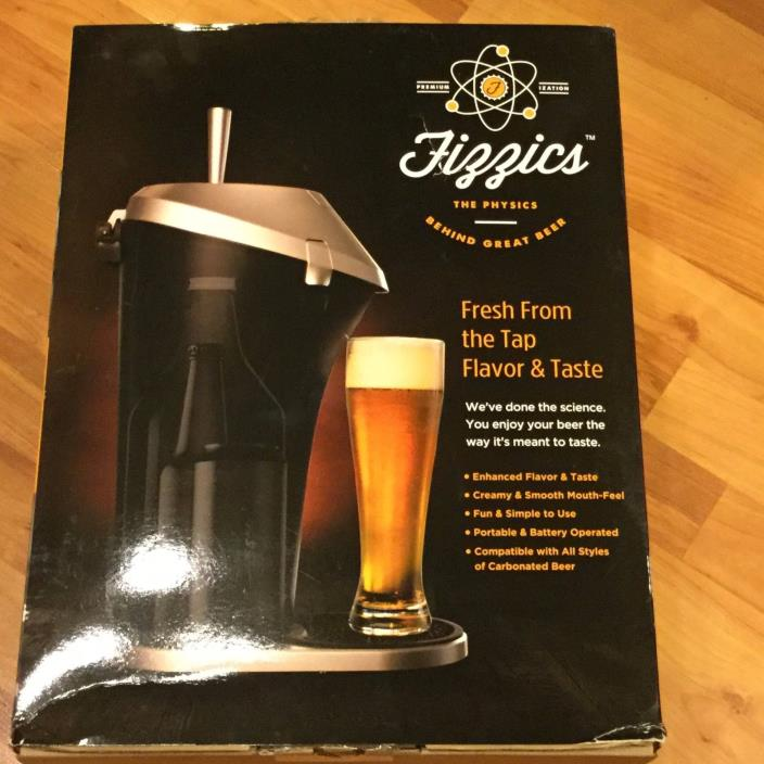 New Fizzics Beer System **Fresh Draft Taste**Portable Brew Dispenser FAST S/H !!