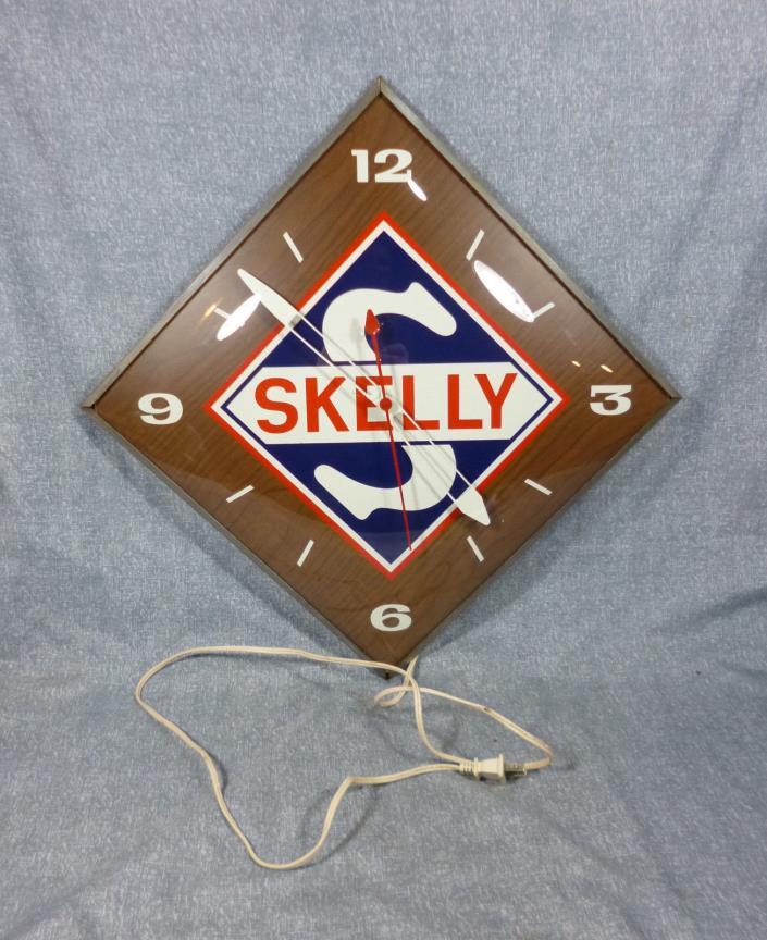 Vintage PAM Skelly Advertising Clock  15