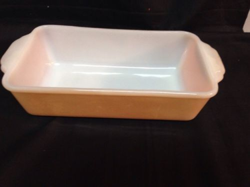 Vintage Fire King Peach Lustre Ware Loaf Pan