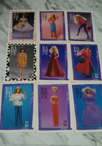 Barbie Trading Cards, Mattel 1990, Set Of 9