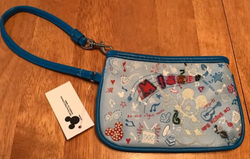 Disney Mickey Mouse Beaded Wristlet Wallet - NWT