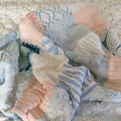 Vintage Chenille Stroller Baby / Reborn  Quilt / Blanket