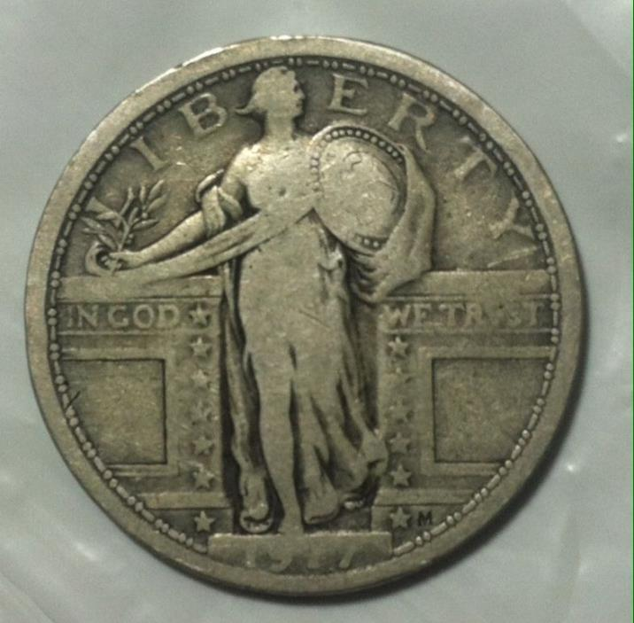 Rare 1917 Type 1 Standing Liberty Quarter
