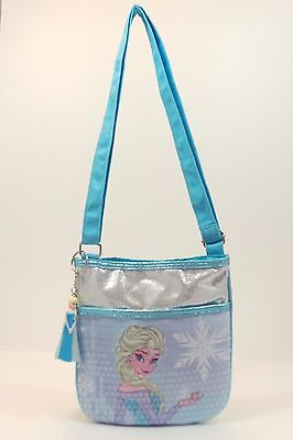 Disney Frozen Elsa Cross Body Purse and Elsa Figurine Key Chain