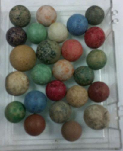 25 clay vintage antique marbles  lot #2