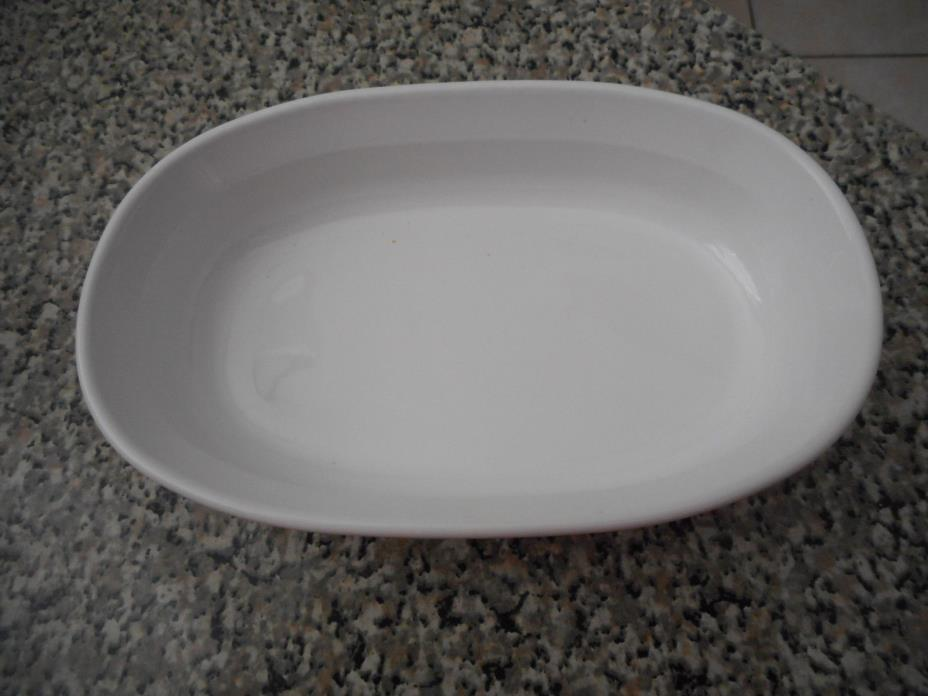 CORNING WARE 8 X 5 FRENCH WHITE OVAL BAKING DISH