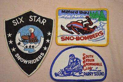 Vintage Snowmobile Ski-Doo Canada Club Patch Lot of 3
