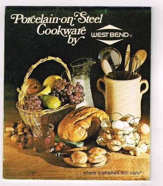 Westbend Recipe Booklet Porcelain Steel Cookware Recipes 1976 Vintage Cookbook