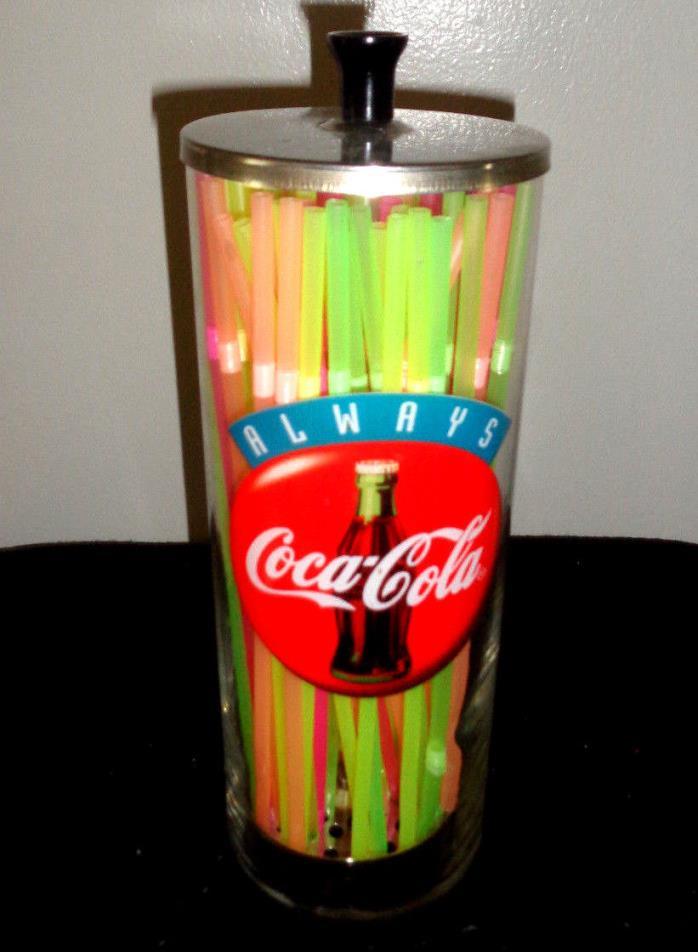 Glass,Coca-cola Drinking Straw Holder, Dispenser