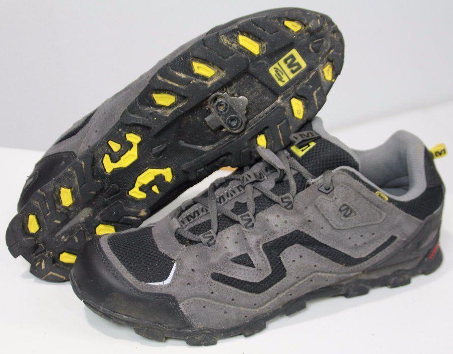 Mavic Zoya MTB Cycling Shoes Shimano Clips Women's Size 9.5 US Leather Gray