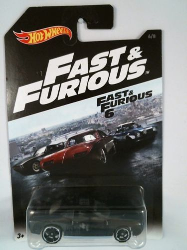 2016 Hot Wheels Fast and Furious'08 Dodge Challenger SRT8 6/8 - Black
