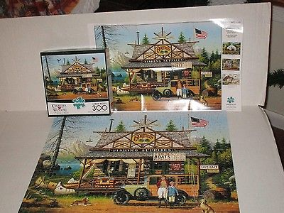 Charles Wysocki  Jigsaw Puzzle Proud Lil' Angler 300 Pc Complete