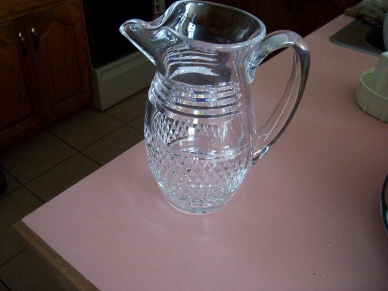 Waterford crystal Castletown martini pinched nose pitcher