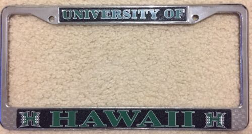 University Of Hawaii License Plate Frame
