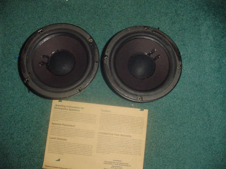 SYNERGISTICS SPEAKERS VINTAGE MID RANGE SPEAKERS  2215    65144680