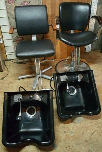 Salon Styling Chairs and Shampoo Bowls
