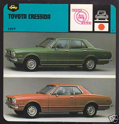 1977 TOYOTA CRESSIDA 2 and 4-DOOR Car Picture 1978 CARD