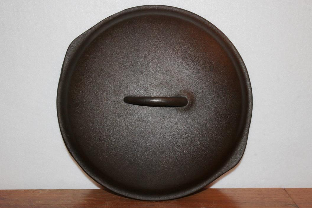 BIRMINGHAM STOVE & RANGE CENTURY No. 8 SKILLET COVER LID 10 5/8 IN BSR CAST IRON
