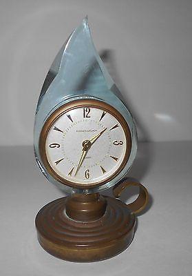 Rare Vintage Phinney Walker Lucite/Brass Lantern Alarm Clock