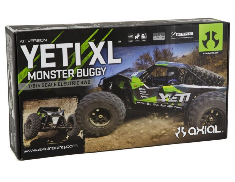 Axial Racing 1/8 Yeti XL Rock Racer 4WD Monster Buggy Kit W/ Body and Wheels BRA