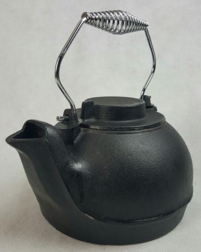 Tea Coffee Kettle Tea Pot Vintage Antique Cast Iron mint
