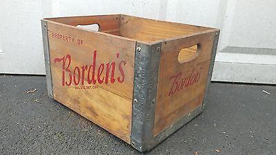 Vintage Borden's Wood Milk Crate