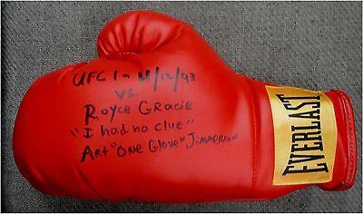 Art One Glove Jimmerson Signed Everlast Boxing Glove VS Royce Gracie UFC PSA/DNA