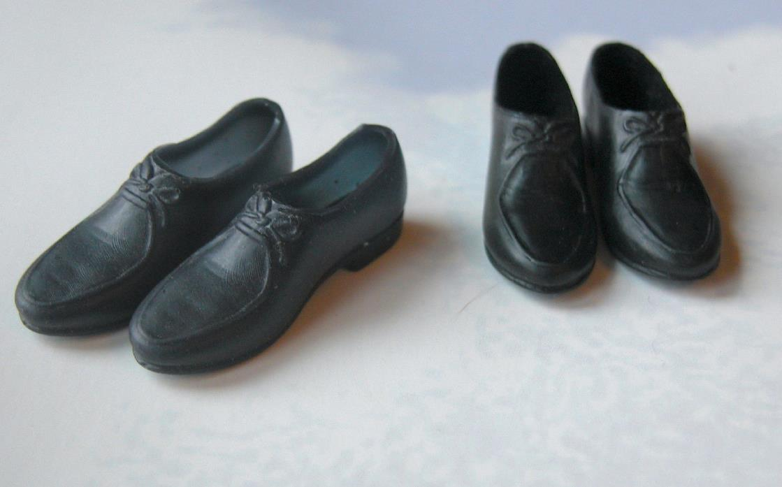 Vintage Ken 2 Pairs of Shoes Classic Black & HTF Navy for #797 Army / Air Force