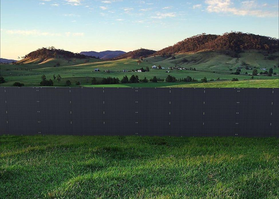 2PCS 95% Privacy Screen, Shade Fence, with Rope, Mesh Fabric, Black, 6x12ft