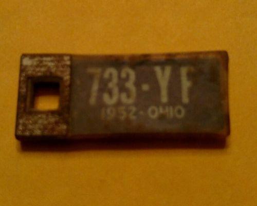 1952 Ohio Dav license plate