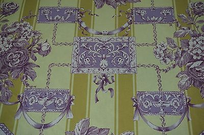 Duralee Fabric - PASTORAL CLASSIQUE Printed Color Purple Yellow Gold SOLD by Yd