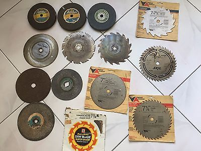 Circular saw blades 7 I/4 -- & 3-- 6'' Grinding wheels 3 Discs