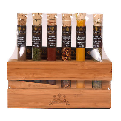 The Spice Lab The Chef's Spice Sampler Collection 6 Tubes