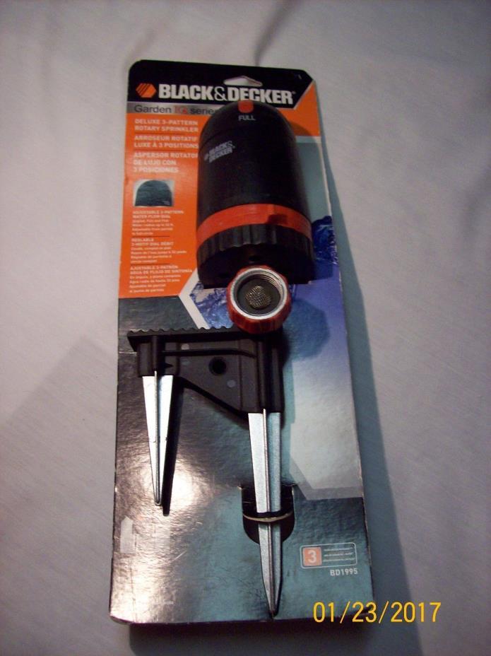 Black & Decker BD1995 Rotary Sprinkler  -  3 Pattern