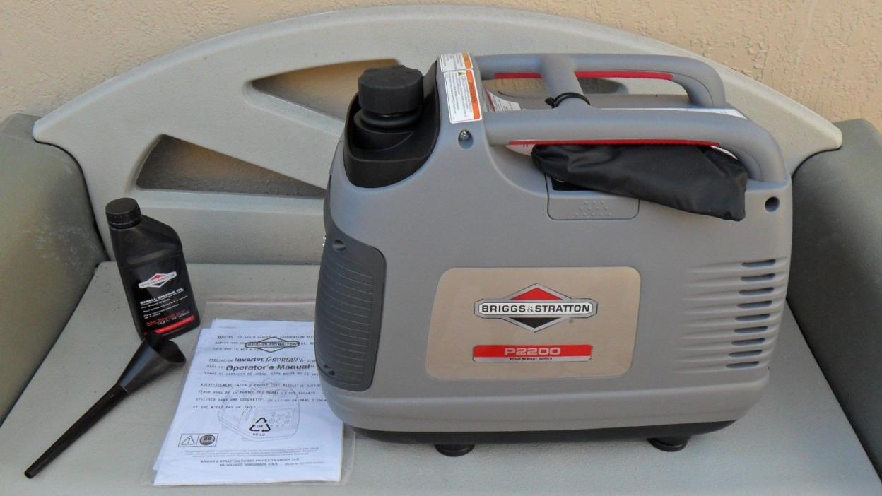 Briggs & Stratton 030651 P2200 PowerSmart Portable 2200 Watt Inverter Generator