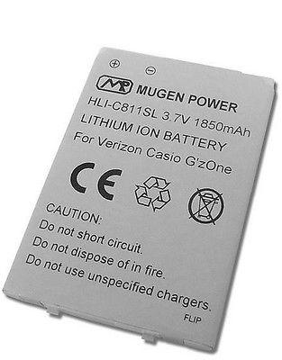 MUGEN POWER 1850mAh EXTENDED BATTERY FOR CASIO G'ZONE COMMANDO 2 C811 4G VERIZON