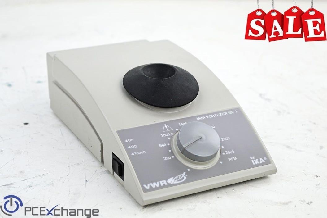 IKA VWR Mini Vortexer MV 1 200-2500RPM Test Tube Shaker Mixer 4.5mm Orbit