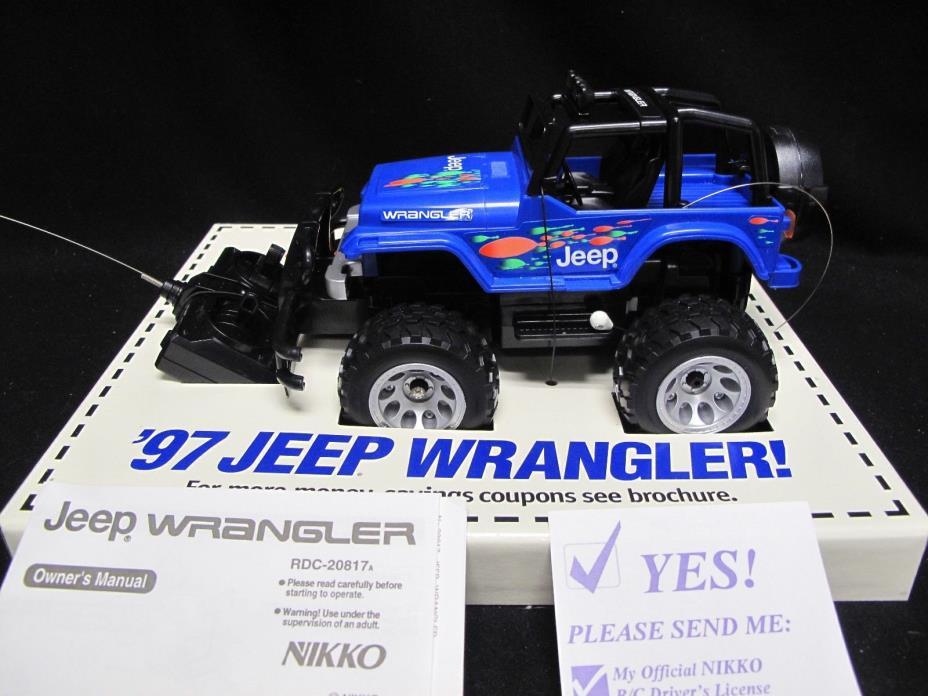 NIKKO 1997 Jeep Wrangler Radio Control RDC-20817A - Part of 1997 Jeep Promotion