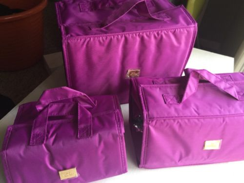 JM New York Cosmetic Storage Travel Bag set w  Detachable Zippered Compartments