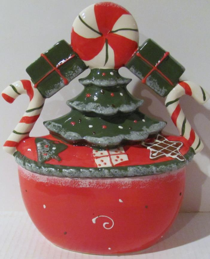 CHRISTMAS TREE CERAMIC COOKIE JAR - Tii Collections