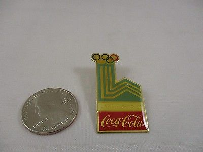 Vintage 1980 Olympic 1983 Coca-Cola Lake Placid Pin