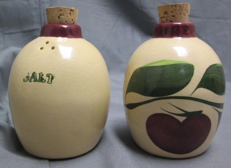 Watt Ware Style Apple Salt & Pepper Shaker Four Rivers Stoneware