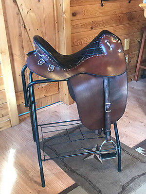 Steele Plantation Saddle, medium seat, standard tree, diamond tufted seat.