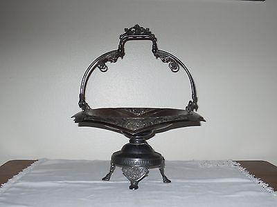 Antique Derby Quadruple Plate Bride Basket