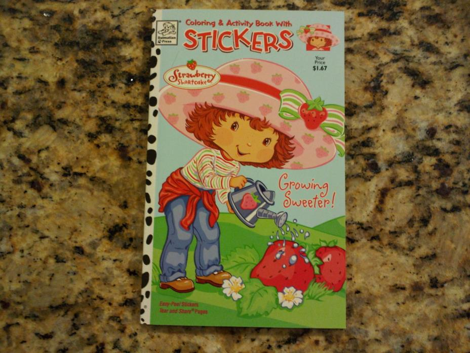 2 Strawberry Shortcake Coloring & Activity Books w/ Stickers