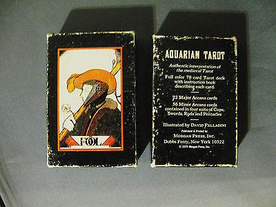 VINTAGE 1970 AQUARIAN TAROT THE FOOL 78 CARDS