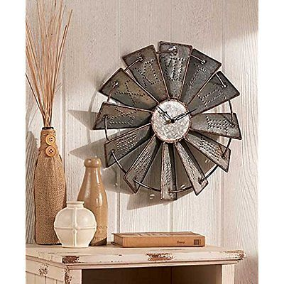 Wall Clocks Metal Windmill Wall Clock